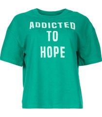 katoenen t-shirt met opdruk elie  groen