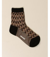 missoni socks missoni zigzag lurex knit socks