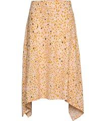 carlapw sk knälång kjol gul part two