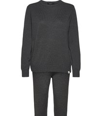 decoy knit set loungewear pyjamas grå decoy