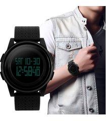 hombre simple reloj negro jóvenes skmei deportivo digital