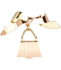 cartier 'american' 14k gold bow brooch