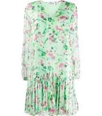 essentiel antwerp floral print shift dress - green