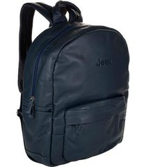 mochila de couro jeep all day use