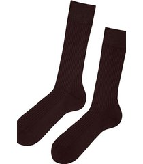 calzedonia short ribbed egyptian cotton socks man brown size 42-43