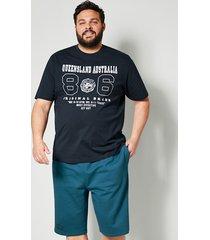 t-shirt men plus marinblå::vit