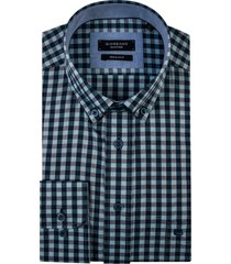 giordano kennedy overhemd mint geruit button down regular fit