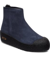 guard ii shoes boots ankle boots ankle boots flat heel blå bally