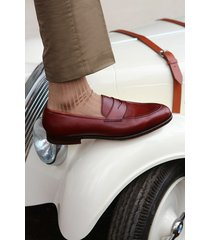 handmade men burgundy shoes loafer , men leather slip ons leather dress shoes
