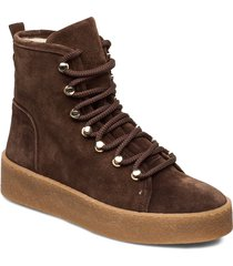 warm lining 3603 shoes boots ankle boots ankle boots flat heel brun billi bi