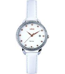 reloj  loix blanco ref l1114-07