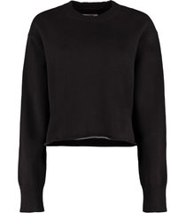 mm6 maison margiela cotton and wool blend sweater