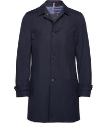 cotton car coat trench coat rock blå tommy hilfiger tailored