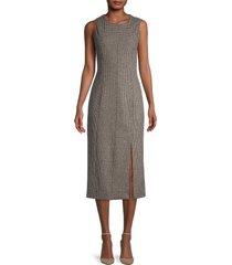 theory women's abbot houndstooth sheath dress - tan - size 10