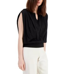 alfani sleeveless blouson top, created for macy's