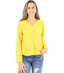 blusa luisa mostaza jacinta tienda