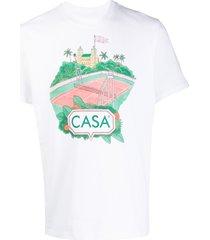 casablanca casa court t-shirt - white