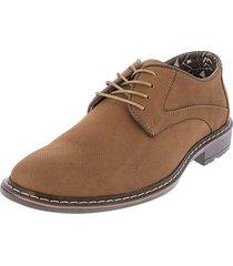 zapato miel*cafe perforado moca cuero h002