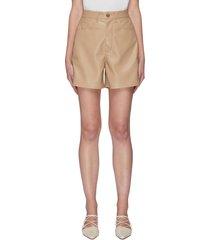 'leana' vegan leather shorts