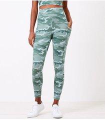 loft lou & grey camo lite ponte pocket leggings
