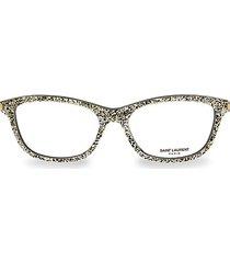 54mm glitter core blue light square reader glasses