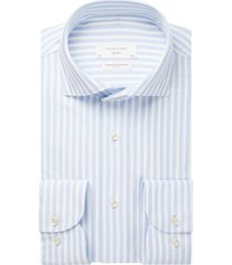 profuomo sky blue slim fit overhemd blauw wit