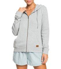 women's roxy perfect wave zip hoodie, size x-large - grey