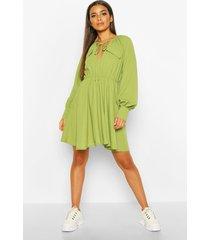 utility pocket skater dress, olive
