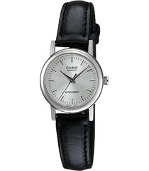 reloj casio ltp-1095e-7a analogo 100% original-plateado