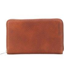 brunello cucinelli zip around wallet - brown