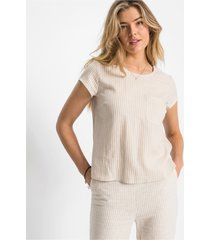 blouse met korte mouwen en strepen