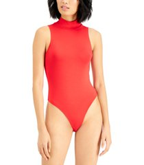 bar iii sleeveless mock neck bodysuit, created for macy's