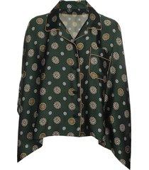 komon print blouse
