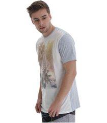 camiseta hd especial 3216a - masculina - branco/azul cla