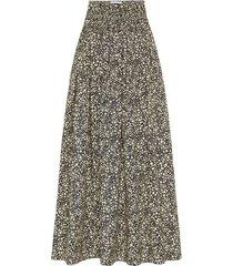 high waisted shirred skirt