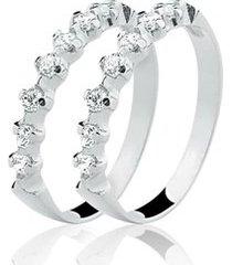 anel aparador de prata 925 com 14 pedras de zircônia natália joias emotions
