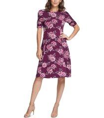 jessica howard floral-print jersey dress
