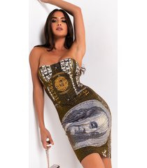 akira cash rules rhinestone mini dress
