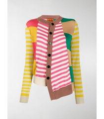 colville asymmetric patchwork knit cardigan