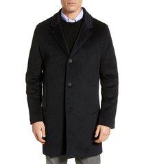 men's cole haan regular fit stretch wool coat, size medium - blue