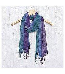silk scarf, 'mists of tomorrow' (thailand)