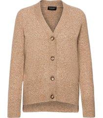 5210 - alp cardigan stickad tröja cardigan brun sand