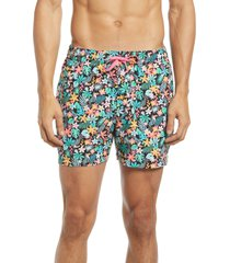 chubbies 5.5-inch swim trunks, size x-large in black at nordstrom