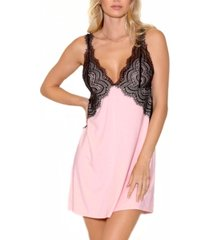 icollection women's elegant knit ultra soft chemise nightgown, online only