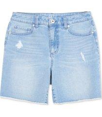 style & co fray-hem denim shorts, created for macy's