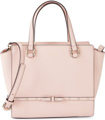 kate spade new york women's winged leather satchel - warm vellum
