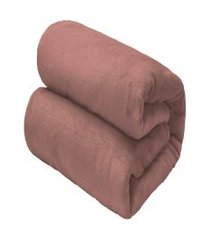 cobertor casal camesa flannel loft rosa