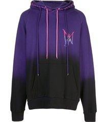 mjb marc jacques burton double ombré-effect hoodie - purple