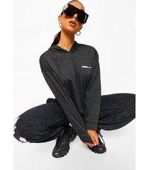 woman oversized hoodie, charcoal