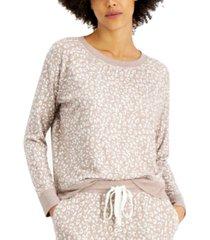 alfani printed hacci pajama top, created for macy's